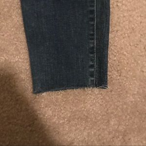 LOFT Jeans - LOFT Curvy Skinny Ankle Jeans Raw Hem Frayed